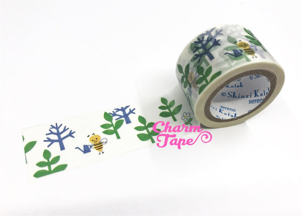 Bee Washi Tape Shinzi Katoh 30mm Wide x 10m WT549 - CharmTape - 3
