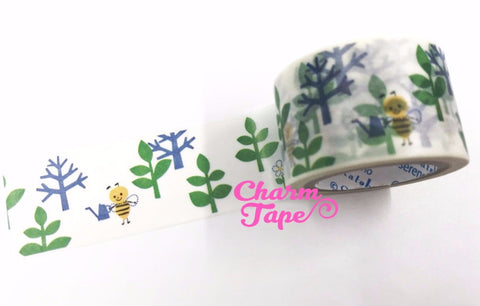Bee Washi Tape Shinzi Katoh 30mm Wide x 10m WT549 - CharmTape - 1