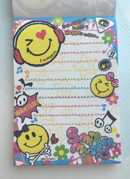 Smiley Face Music Big Memo Pad by Kamio from Japan - CharmTape - 2