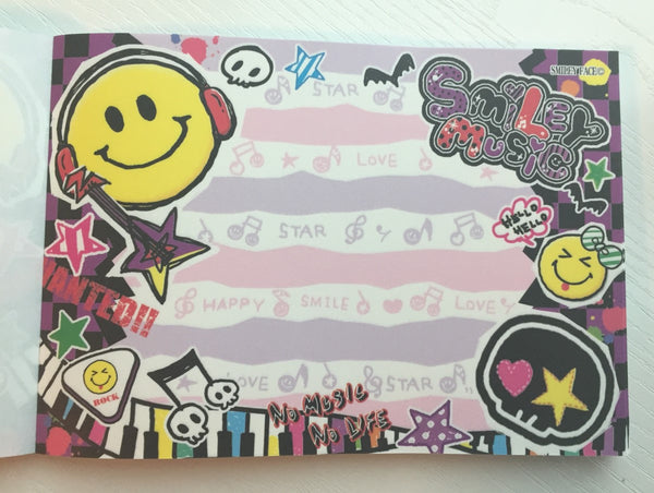 Smiley Face Music Big Memo Pad by Kamio from Japan - CharmTape - 4