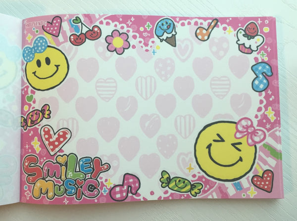 Smiley Face Music Big Memo Pad by Kamio from Japan - CharmTape - 5
