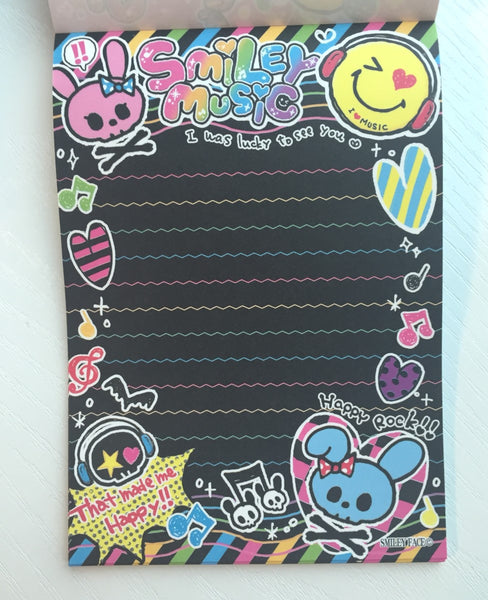 Smiley Face Music Big Memo Pad by Kamio from Japan - CharmTape - 6