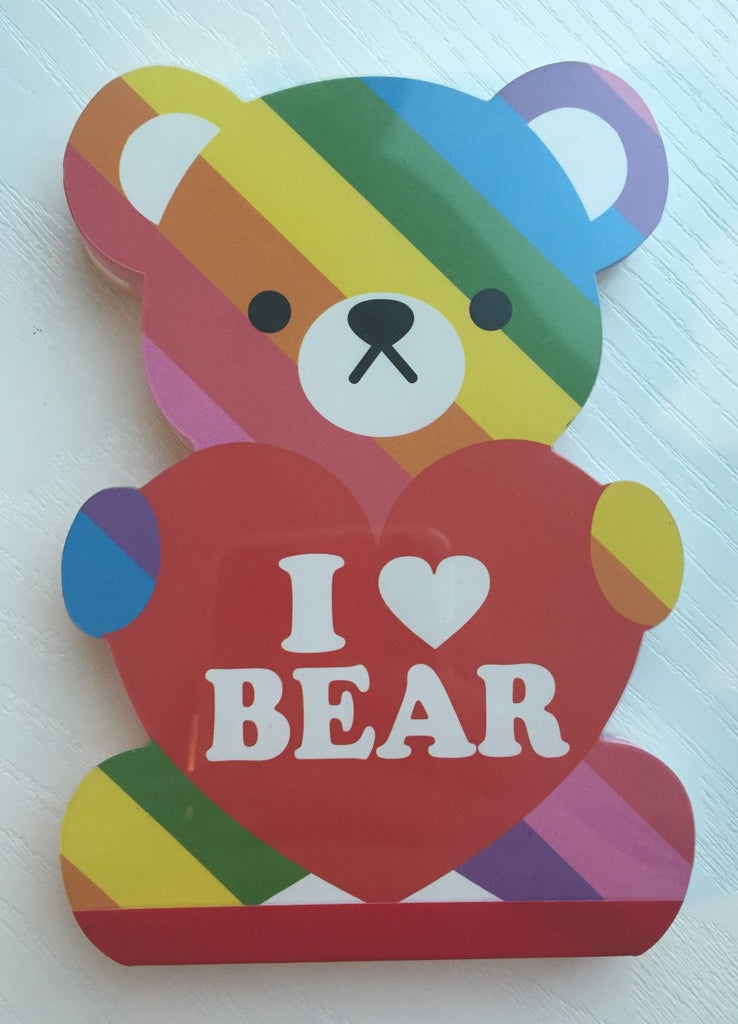 I Heart Bear Big Memo Pad by Kamio from Japan - CharmTape - 1