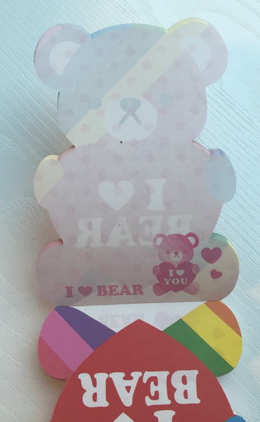 I Heart Bear Big Memo Pad by Kamio from Japan - CharmTape - 2