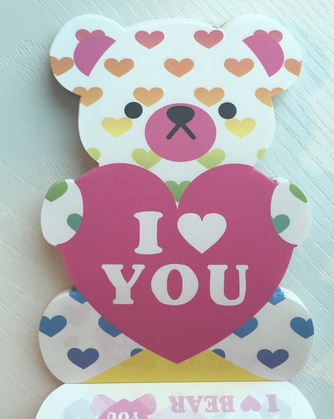 I Heart Bear Big Memo Pad by Kamio from Japan - CharmTape - 3