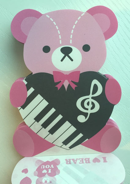 I Heart Bear Big Memo Pad by Kamio from Japan - CharmTape - 5