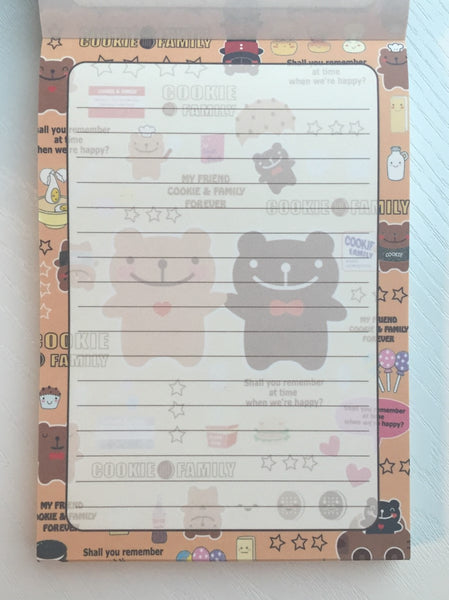Cookie Family Big Memo Pad by Daiso from Japan - CharmTape - 2