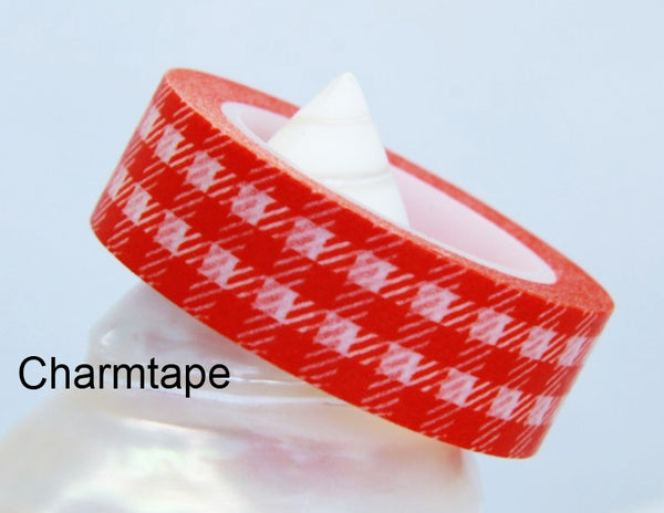 Gingham check Washi Tape 15mm x 10m WT30 - CharmTape - 4