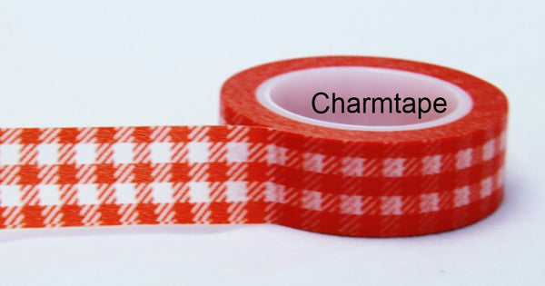 Gingham check Washi Tape 15mm x 10m WT30 - CharmTape - 5