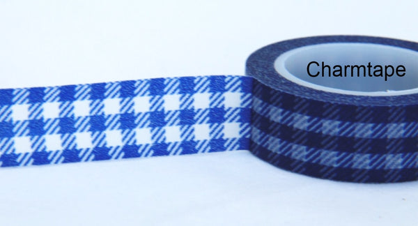 Gingham check Washi Tape 15mm x 10m WT30 - CharmTape - 10