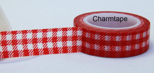 Gingham check Washi Tape 15mm x 10m WT30 - CharmTape - 12