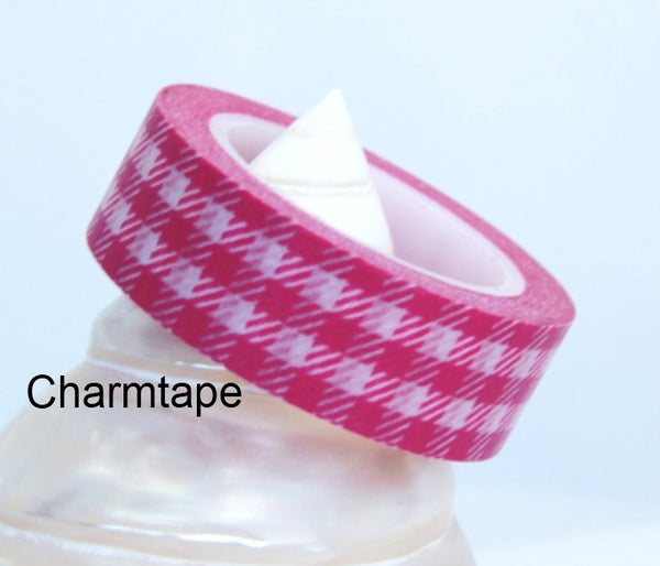 Gingham check Washi Tape 15mm x 10m WT30 - CharmTape - 13