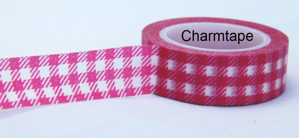 Gingham check Washi Tape 15mm x 10m WT30 - CharmTape - 14
