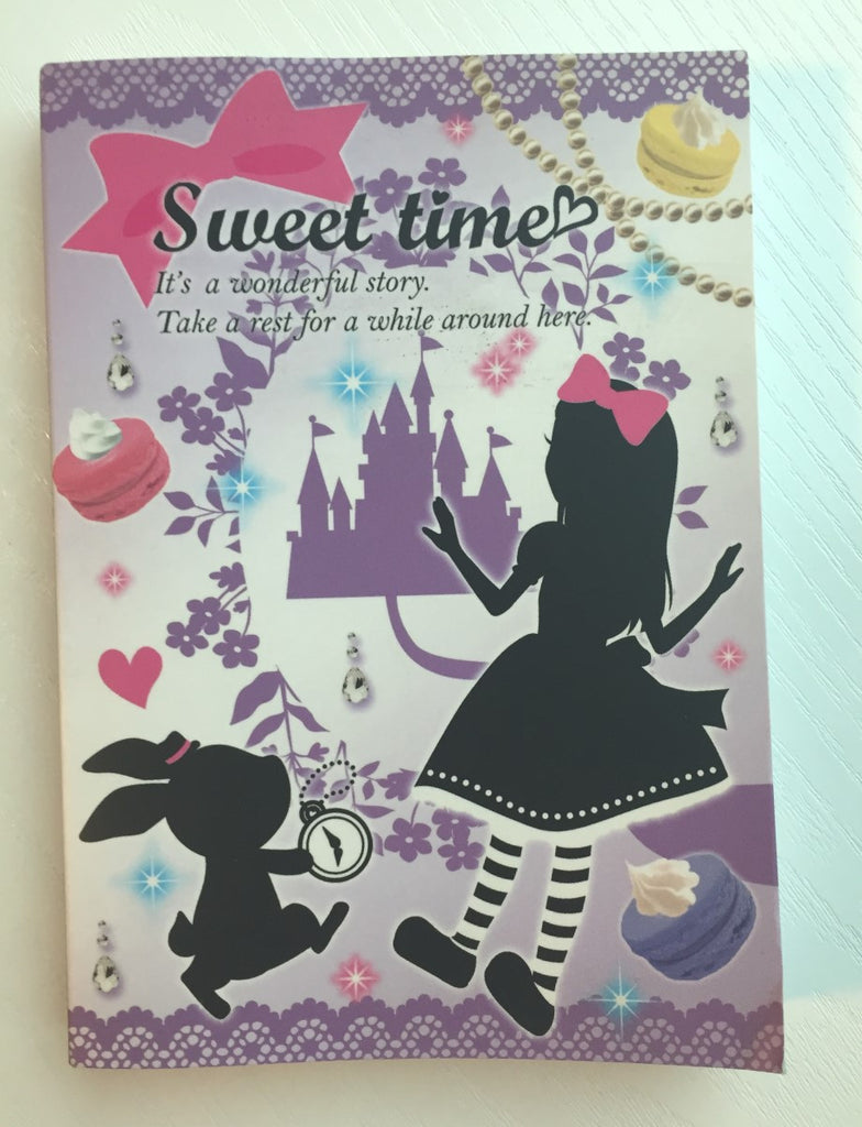 Alice in Wonderland theme Big Memo Pad by Daiso from Japan - CharmTape - 1