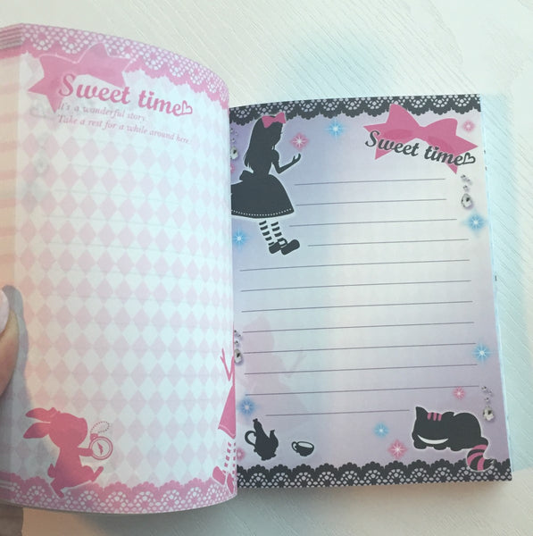 Alice in Wonderland theme Big Memo Pad by Daiso from Japan - CharmTape - 4