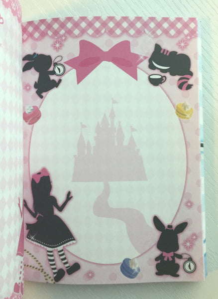 Alice in Wonderland theme Big Memo Pad by Daiso from Japan - CharmTape - 5