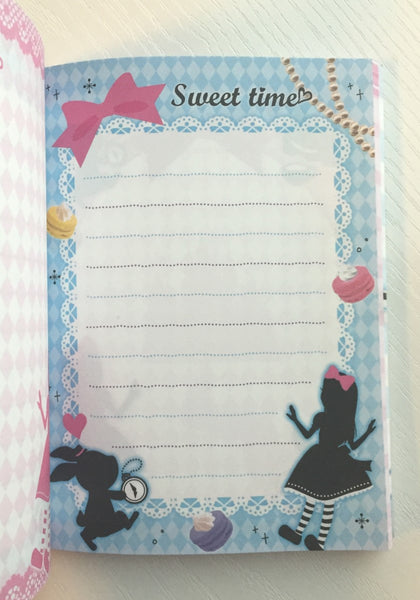Alice in Wonderland theme Big Memo Pad by Daiso from Japan - CharmTape - 6