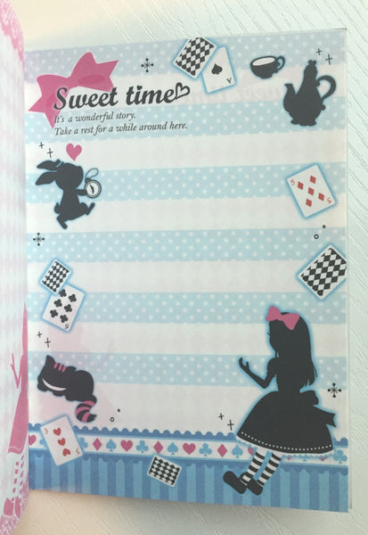 Alice in Wonderland theme Big Memo Pad by Daiso from Japan - CharmTape - 7