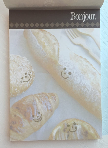 Bonjour French Bread Big Memo Pad by Daiso from Japan - CharmTape - 2