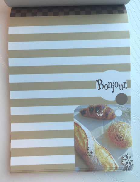 Bonjour French Bread Big Memo Pad by Daiso from Japan - CharmTape - 4
