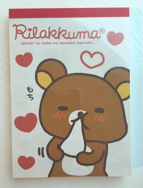 Rilakkuma Bear Big Memo Pad by San-x from Japan - CharmTape - 1