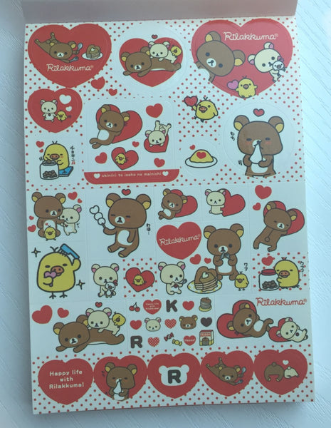 Rilakkuma Bear Big Memo Pad by San-x from Japan - CharmTape - 2