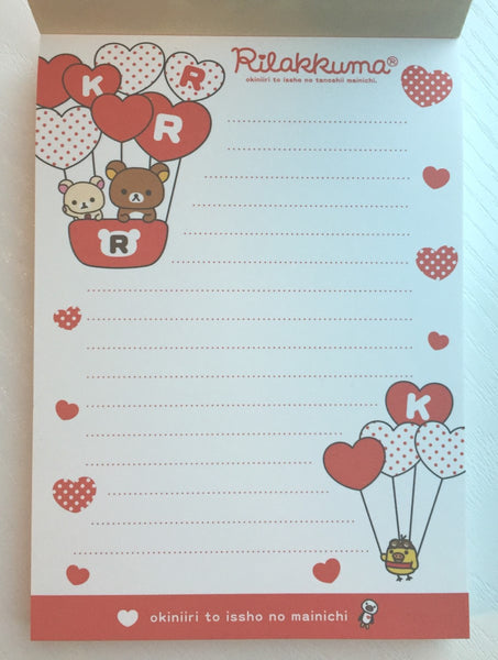 Rilakkuma Bear Big Memo Pad by San-x from Japan - CharmTape - 3