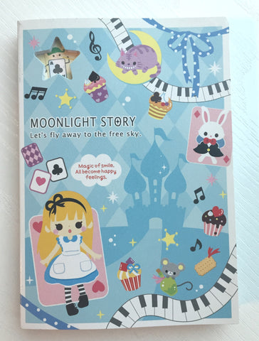 Alice in Wonderland Big Memo Pad by Qlia from Japan - CharmTape - 1
