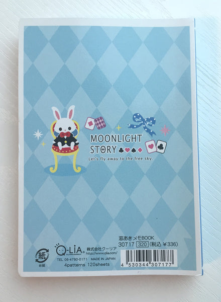 Alice in Wonderland Big Memo Pad by Qlia from Japan - CharmTape - 2