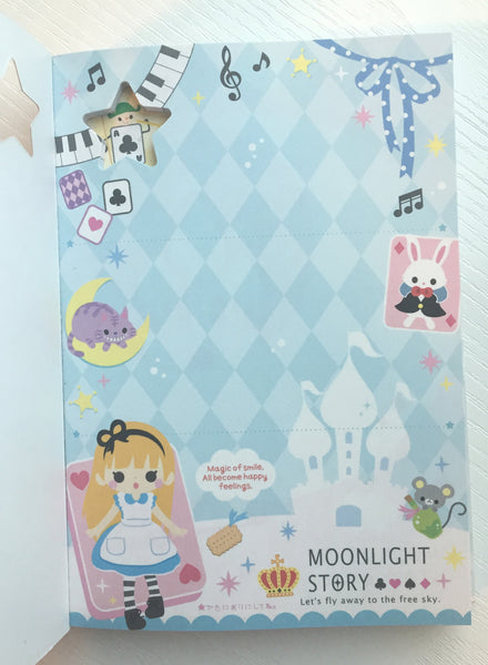 Alice in Wonderland Big Memo Pad by Qlia from Japan - CharmTape - 3
