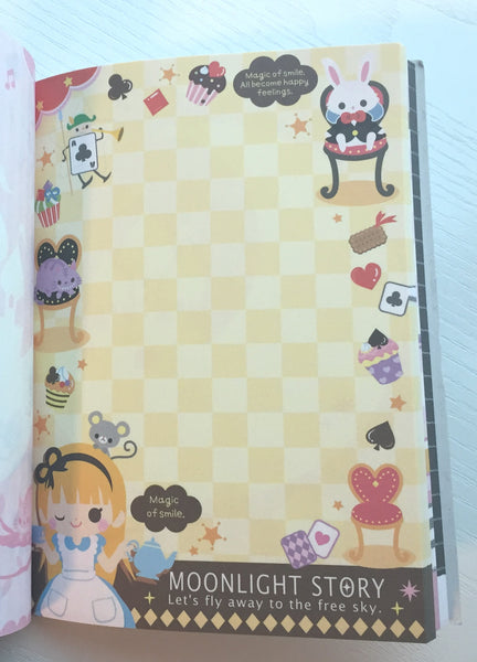 Alice in Wonderland Big Memo Pad by Qlia from Japan - CharmTape - 4