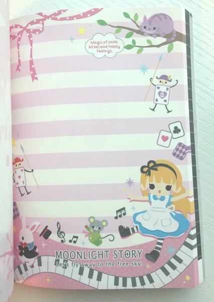 Alice in Wonderland Big Memo Pad by Qlia from Japan - CharmTape - 5