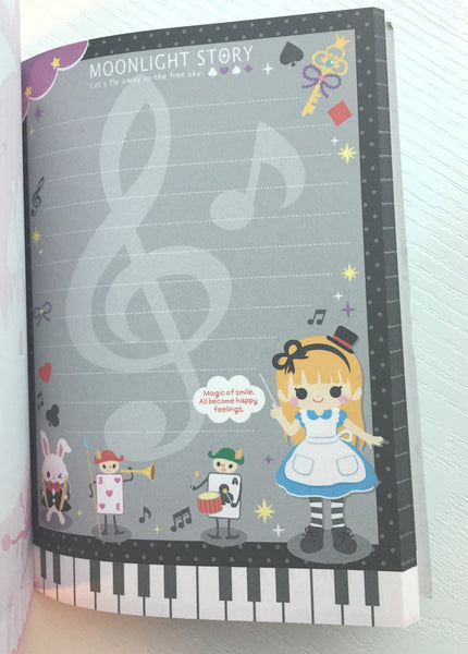Alice in Wonderland Big Memo Pad by Qlia from Japan - CharmTape - 6