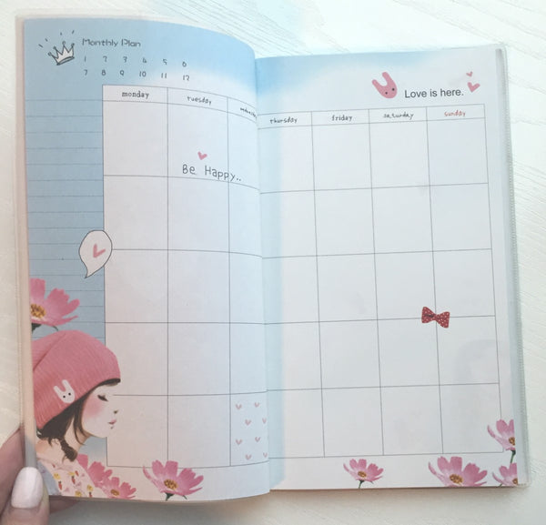 Angelic Girl Daily Planner Scheduler - Undated Journal - CharmTape - 4