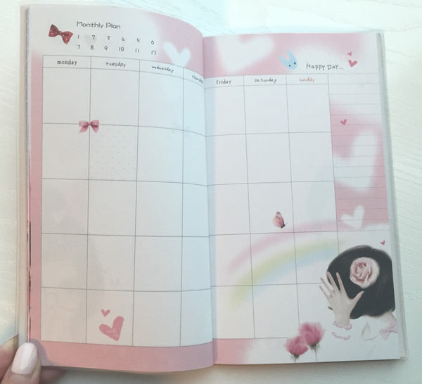 Angelic Girl Daily Planner Scheduler - Undated Journal - CharmTape - 5
