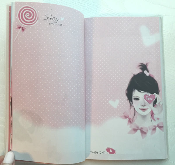 Angelic Girl Daily Planner Scheduler - Undated Journal - CharmTape - 6