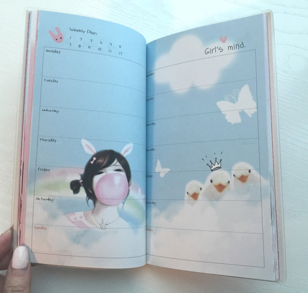 Angelic Girl Daily Planner Scheduler - Undated Journal - CharmTape - 7