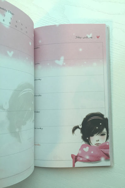 Angelic Girl Daily Planner Scheduler - Undated Journal - CharmTape - 8