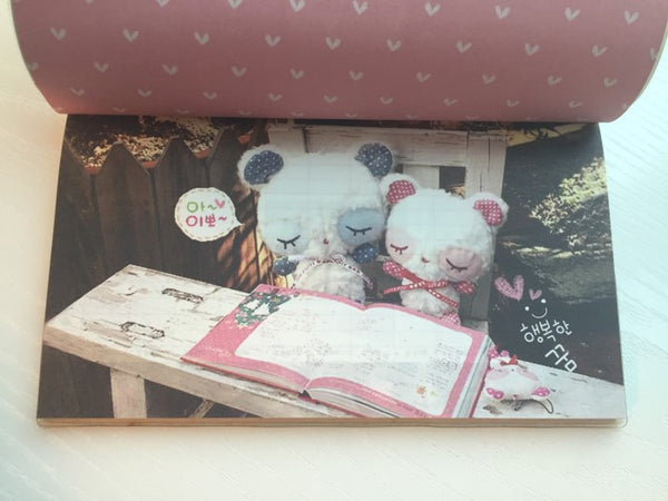 Couple Teddy Bear Daily Planner Scheduler - Undated Journal - CharmTape - 3