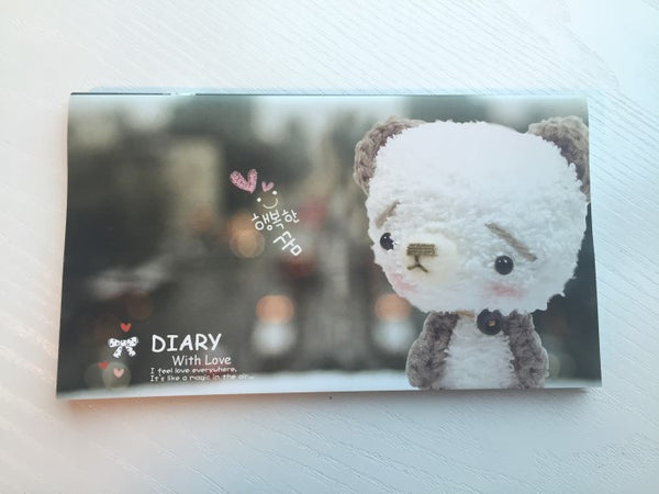 Sad Teddy Bear Daily Planner Scheduler - Undated Journal - CharmTape - 1