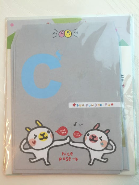 Writing paper and envelopes set - Nice pose bunny from Taiwan - CharmTape - 2
