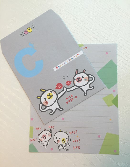 Writing paper and envelopes set - Nice pose bunny from Taiwan - CharmTape - 1