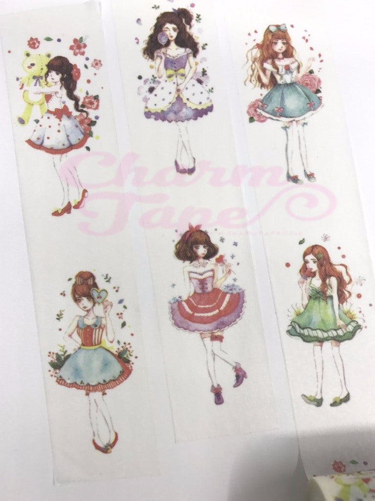 Cosplay Girl Washi Tape (30mm x 5 meters) WT1015