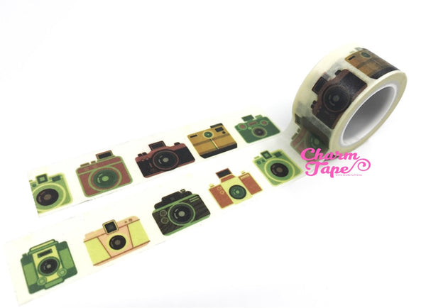 Vintage Camera Washi Tape Roll (20mm x 5m) WT1035