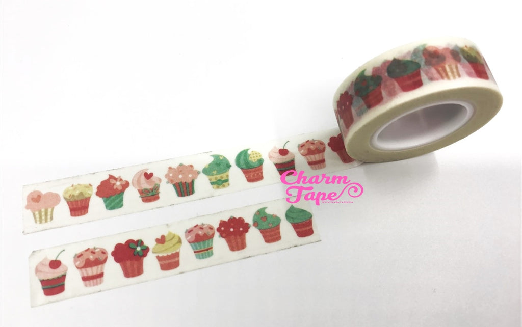 Cupcake Washi Tape 15mm x 10m WT1044