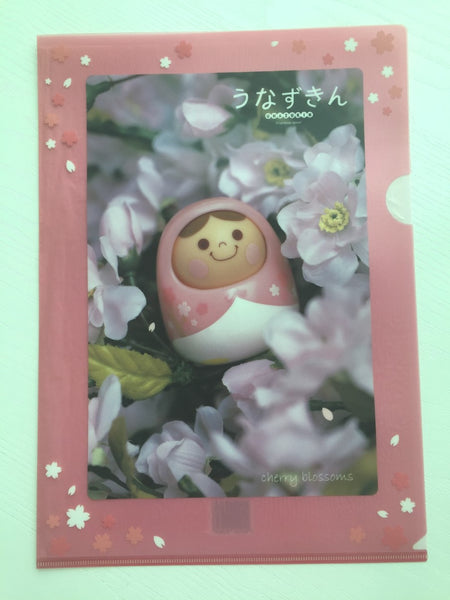 Cherry Blossoms Nesting Doll A4 plastic file folder - CharmTape - 1