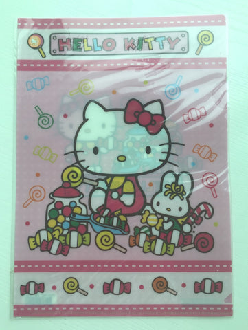 Sanrio Hello Kitty A4 plastic file folder - CharmTape - 1