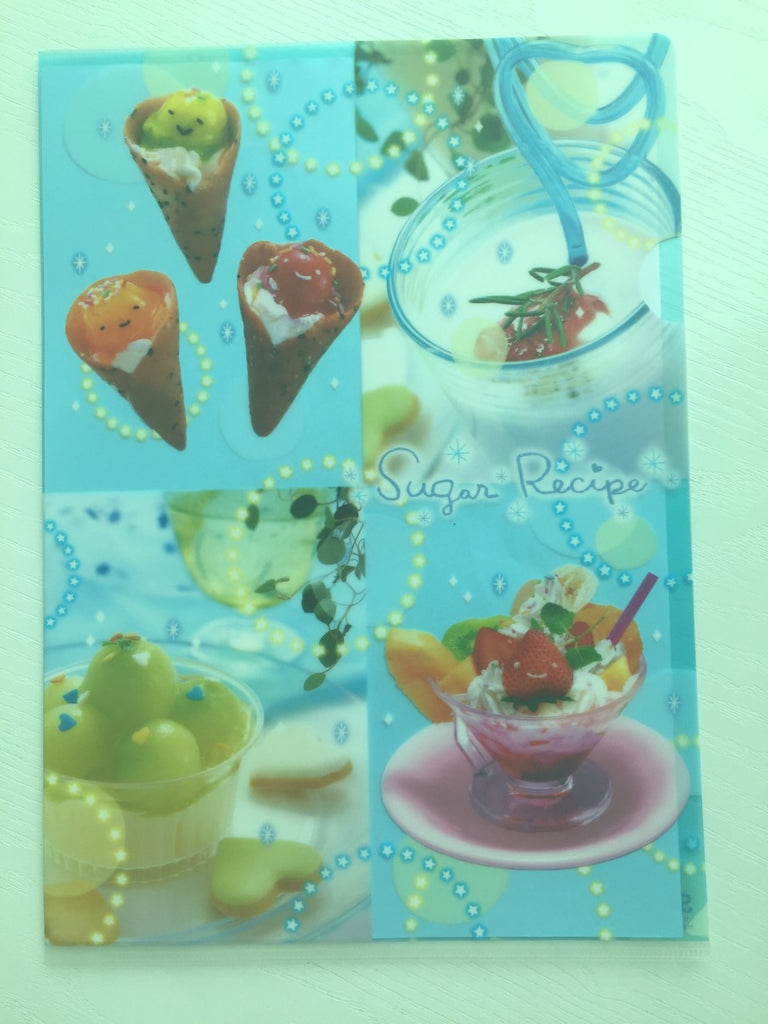 San-x Sugar Recipe A4 plastic file folder - CharmTape - 1