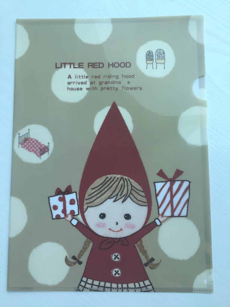 Little Red Riding Hood A4 plastic file folder - CharmTape - 1