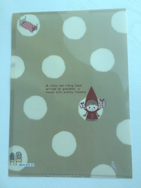 Little Red Riding Hood A4 plastic file folder - CharmTape - 2
